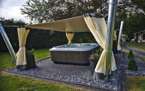Sonnensegel für frei stehendes Freibad